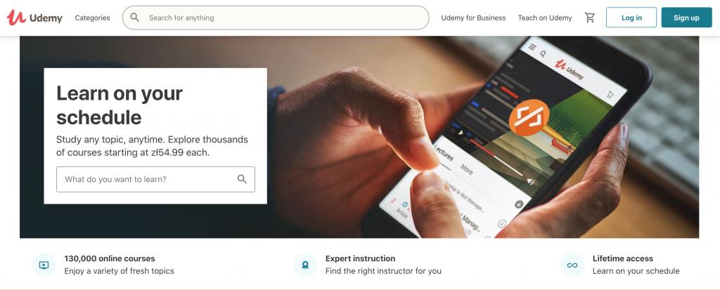 Platforma e-learning - serwis Udemy